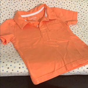Boys 3T polo peach shirt